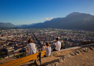 Vue panoramique de Grenoble